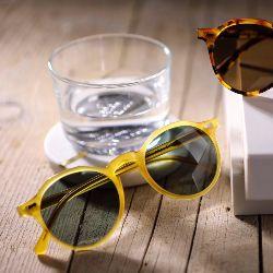 Lapel Honey // Bottle Green Lenses