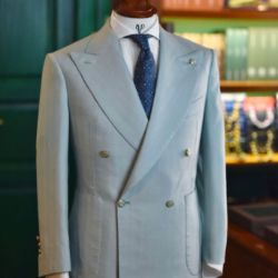 Dalmut Bespoke Turquoise Mohair Suit