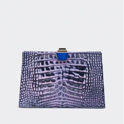Gemelle Clutch in Night Blue Antique Rose