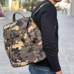 Matte Crocodile Backpack in Bespoke Camo Pattern